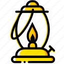 gas, lamp, outdoor, wild, yellow icon