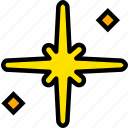 holy, pray, religion, star, the, yellow icon
