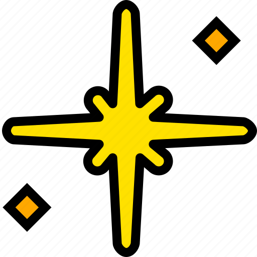 holy, pray, religion, star, the, yellow icon