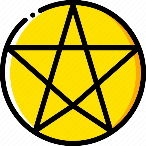 paganism, pray, religion, yellow icon