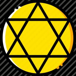 judaism, pray, religion, yellow icon