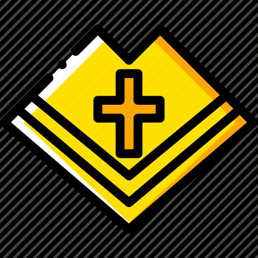 catholic, mantle, pray, religion, yellow icon