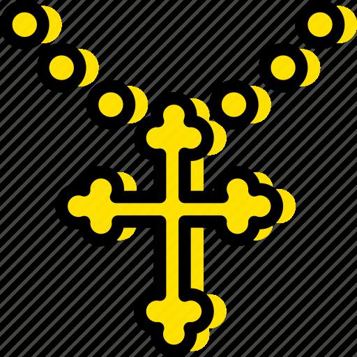 church, pray, religion, yellow icon