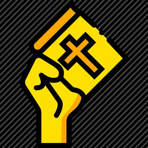 faith, pray, religion, yellow icon