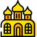 mosque, pray, religion, yellow