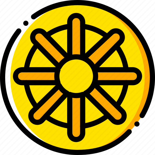 buddhism, pray, religion, yellow icon