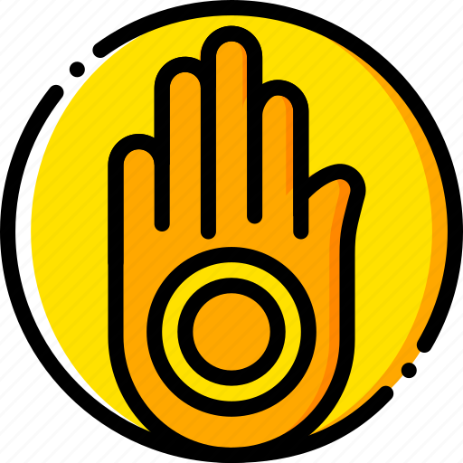 jainism, pray, religion, yellow icon