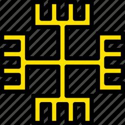 paganism, pray, religion, yellow icon