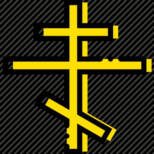 christianity, pray, religion, yellow icon