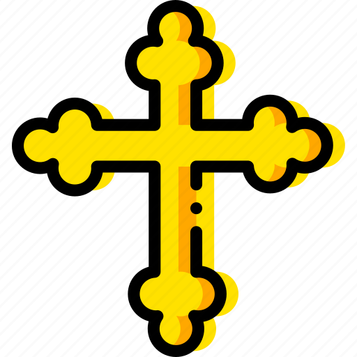 cross, orthodox, pray, religion, yellow icon