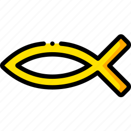 christianity, pray, religion, yellow icon