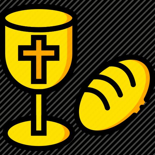 holy, pray, religion, rite, yellow icon