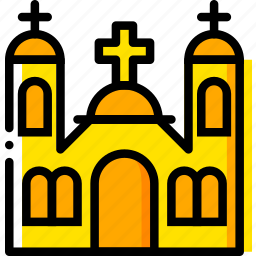 catholic, monastery, pray, religion, yellow icon
