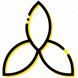 holy, pray, religion, trinity, yellow icon