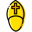 pope, pray, religion, the, yellow icon