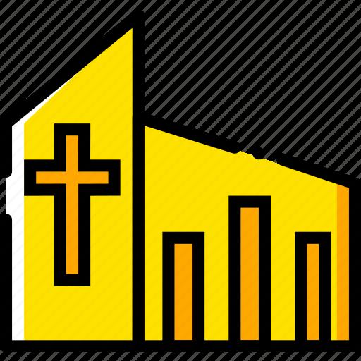 catholic, church, pray, religion, yellow icon