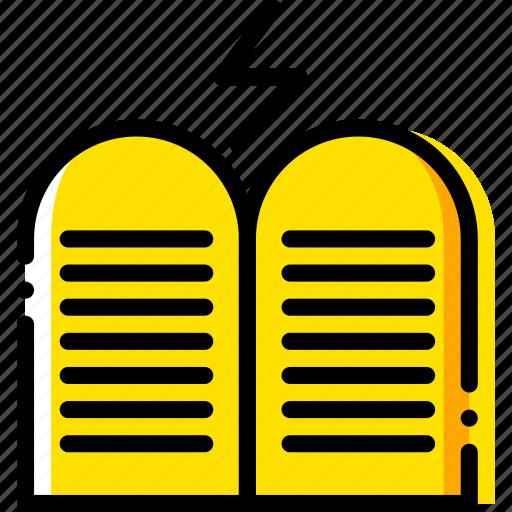 commandments, pray, religion, the, yellow icon