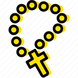 pray, religion, rosary, yellow icon