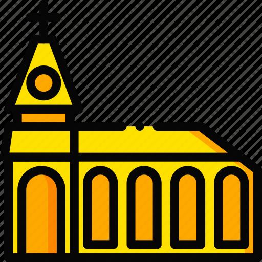 monastery, pray, religion, yellow icon