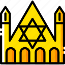 church, judaic, pray, religion, yellow icon