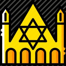 church, judaic, pray, religion, yellow icon
