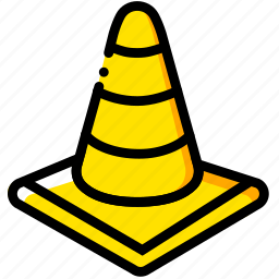 cone, safe, safety, security, traffic, yellow icon