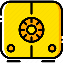 safe, safebox, safety, security, yellow icon