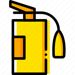 extinguisher, fire, safe, safety, security, yellow icon