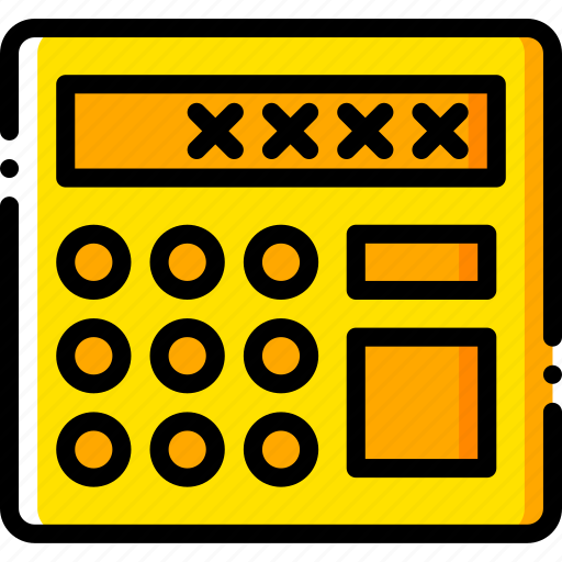 alarm, safe, safety, security, yellow icon