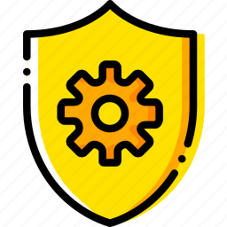 antivirus, safe, safety, security, settings, yellow icon