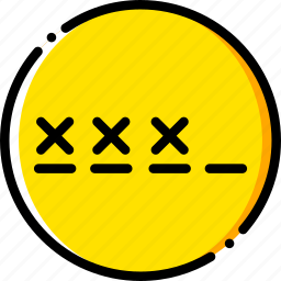 password, safe, safety, security, yellow icon