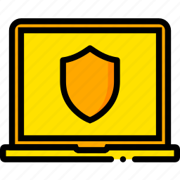 antivirus, protection, safe, safety, security, yellow icon
