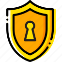 antivirus, encryption, safe, safety, security, yellow icon