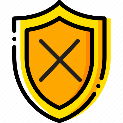 safe, safety, security, system, unprotected, yellow icon