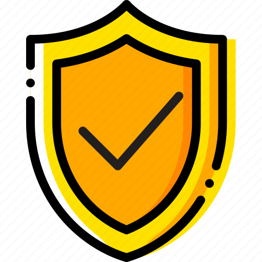 protected, safe, safety, security, system, yellow icon