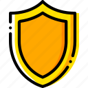 antivirus, safe, safety, security, yellow icon