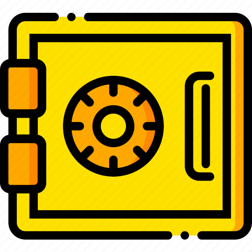 safe, safety, security, yellow icon