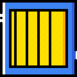 jail, safe, safety, security, yellow icon