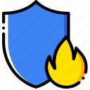 antivirus, firewall, safe, safety, security, yellow icon
