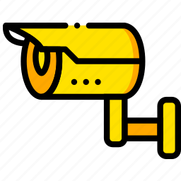 camera, outdoor, safe, safety, security, yellow icon