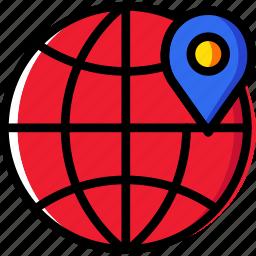 business, internet, location, marketing, seo, web icon
