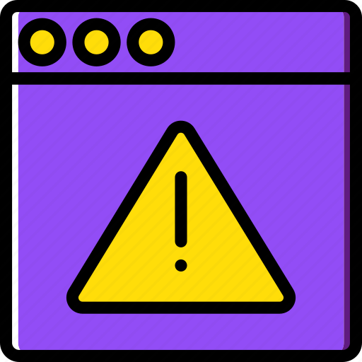 browser, business, internet, marketing, seo, warning, web icon