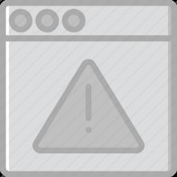browser, business, internet, marketing, seo, warning, web icon