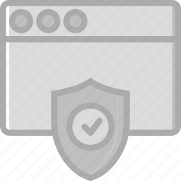 browser, business, internet, marketing, protected, seo, web icon
