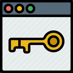browser, business, internet, marketing, seo, unlock, web icon
