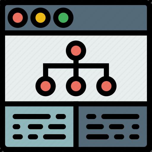 analytics, browser, business, internet, marketing, seo, web icon