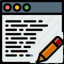 browser, business, edit, internet, marketing, seo, web icon