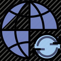 business, internet, marketing, seo, sync, web icon