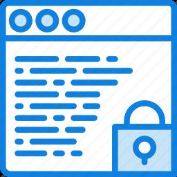 browser, business, internet, lock, marketing, seo, web icon
