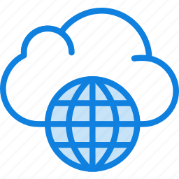 business, cloud, internet, marketing, seo, web icon
